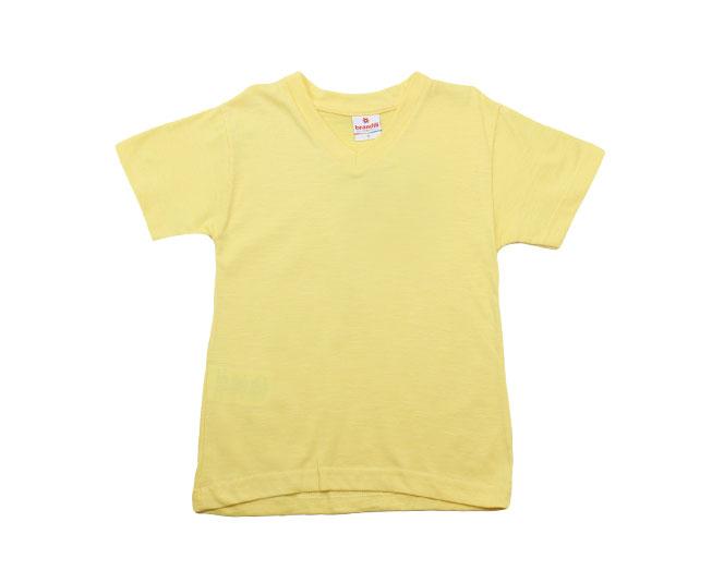Camiseta Gola V Amarela Brandili