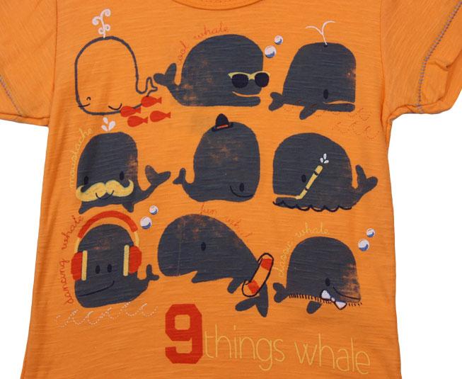 Camiseta Laranja Baleia Kamylus