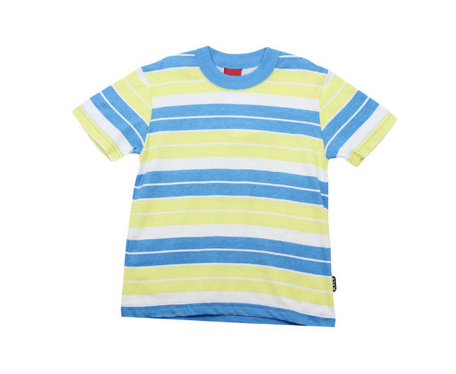 Camiseta Listrada Azul/ Amarelo Kyly