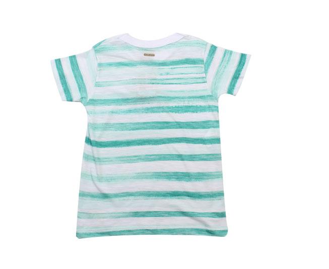 Camiseta Listrada Verde Carinhoso