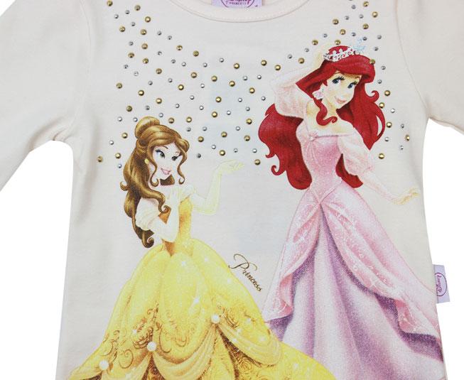 Camiseta Manga Longa Princess Disney Brandili