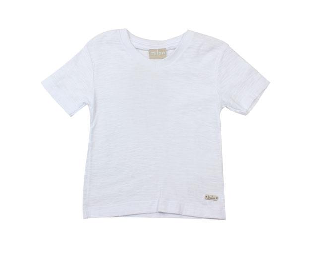 Camiseta Manga Curta Branca Lisa Milon