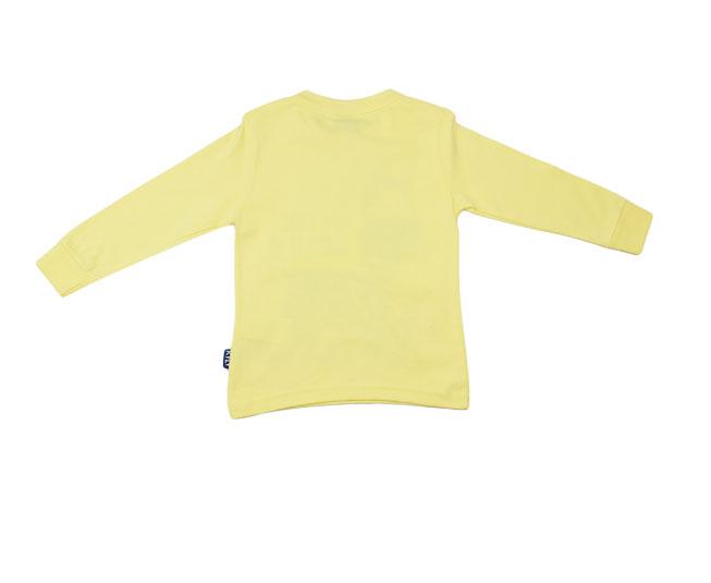 Camiseta Manga Longa Amarela Zebra Feliz Kyly