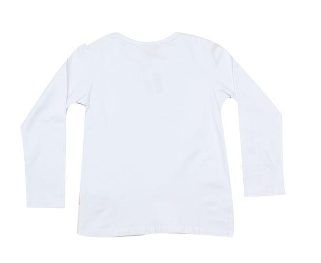 Camiseta Manga longa Branca com Lacinho Kyly