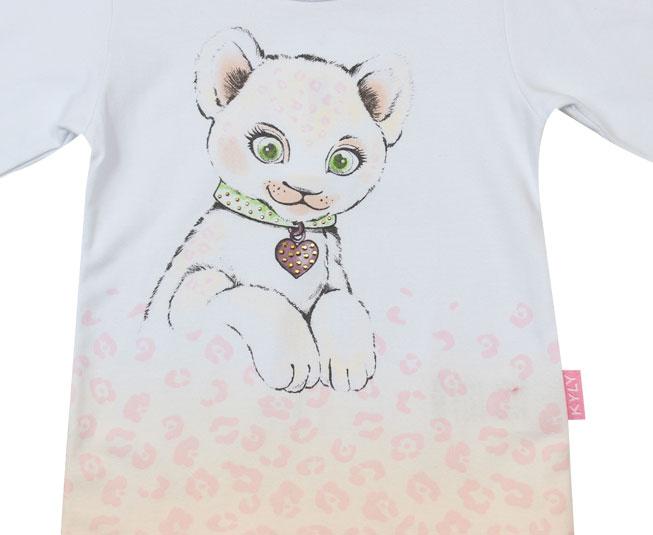 Camiseta Feminina Manga Longa de Oncinha Kyly