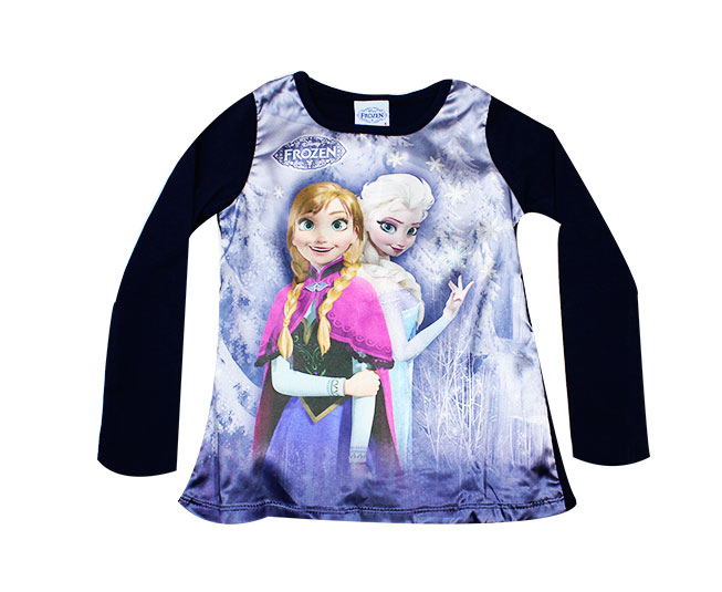 Camiseta Manga Longa Disney Frozen Brandili