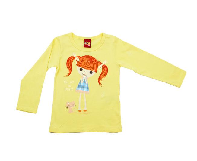 Camiseta Manga Longa Infantil de Bonequinha Kyly
