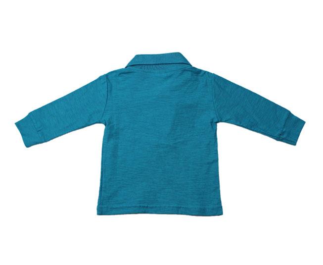 Camiseta Manga Longa Polo  Pulla Bulla Azul