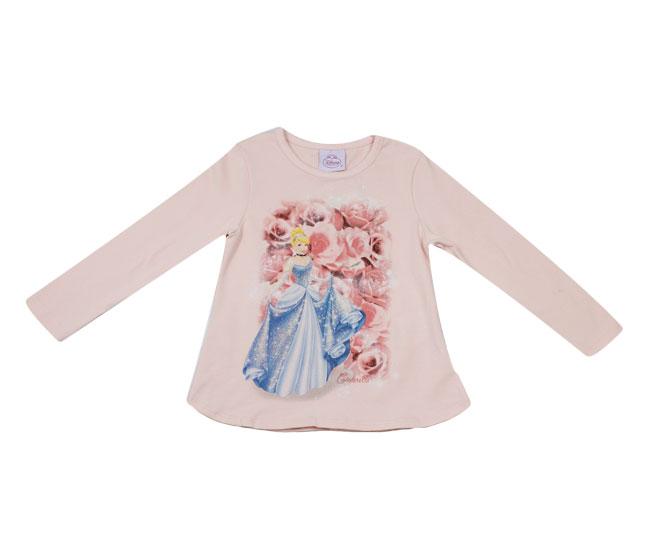 Camiseta Manga Longa Princesa Cinderela Disney