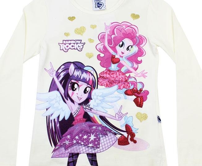 Camiseta Manga Longa Rainbow Rocks Brandili