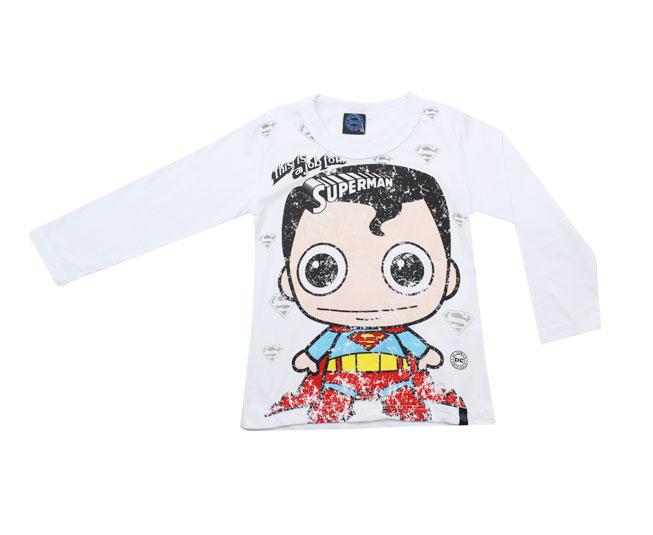 Camiseta Manga Longa Super-Man  Kamylus