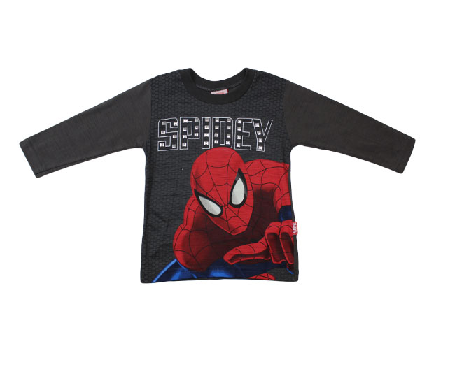 Camiseta Manga Longa Ultimate-Spider Man Marvel Brandili