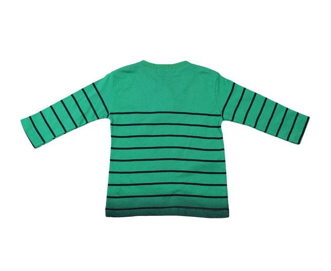 Camiseta Manga Longa Verde/Preto Pulla Bulla
