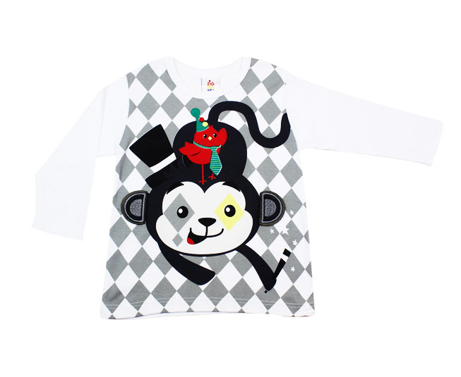 Camiseta Masculina de Frio Macaquinho Magico Zig Zig Zaa