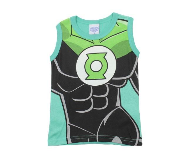 Camiseta Masculina Verde Estampada Lanterna Verde Brandili