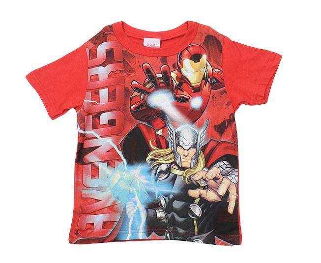 Camiseta Masculina Vermelha Vingadores Brandili