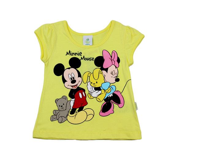 Camiseta Mickey e Minnie Mouse Disney Baby Brandili