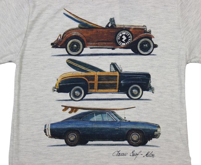 Camiseta Milon Interativa Classic Surf Cinza
