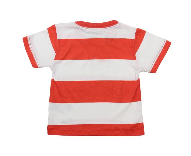 Camiseta Milon Listrada Vermelho e Branco