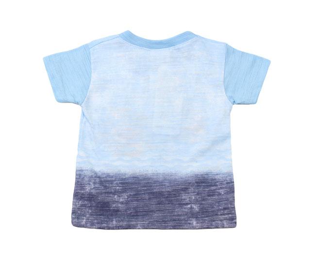 """Camiseta """"Paraíso no Fundo do Mar"""" Azul Kaiani"""