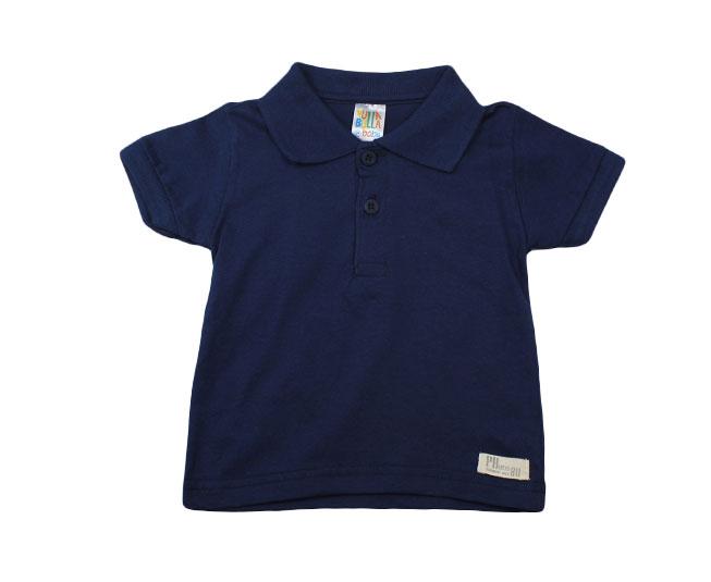 Camiseta Polo Azul Marinho Pulla Bulla