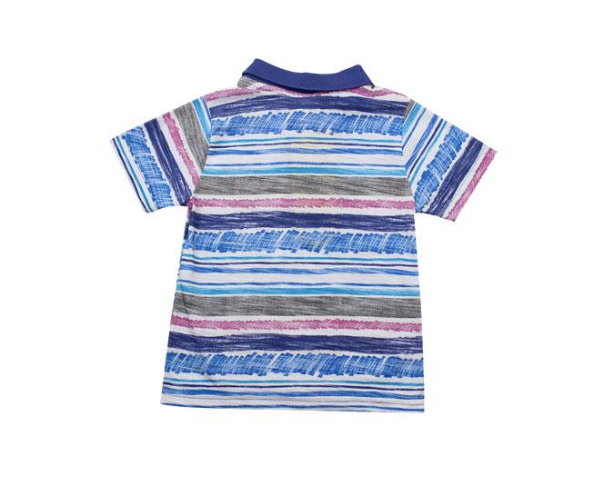 Camiseta Polo Listrada Boca Grande