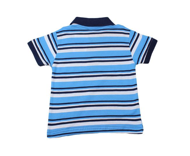 Camiseta Polo Listrado Azul Pulla Bulla