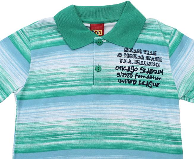 Camiseta Polo Verde Listrado Kyly