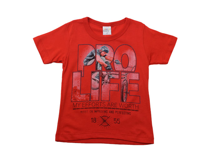 "Camiseta ""Pro Life"" Vermelha  Kaiani"