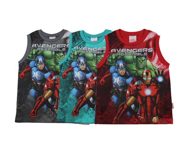 Camiseta Regata Avengers Brilha no Escuro Brandili