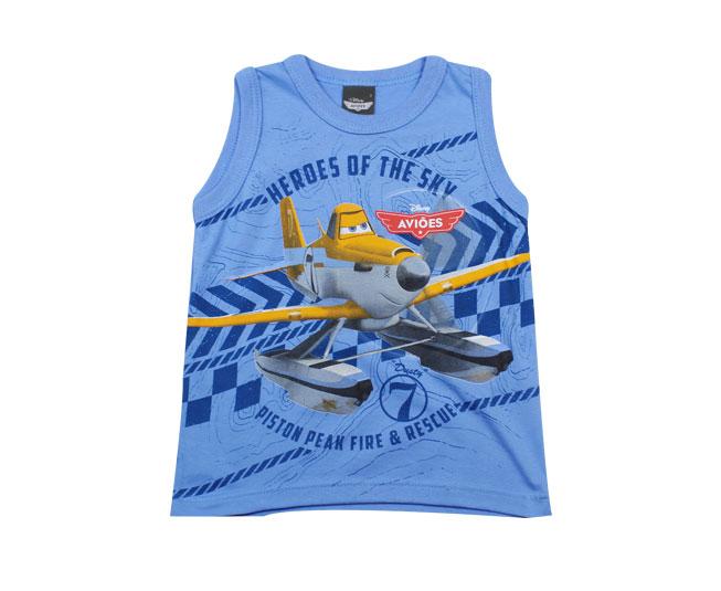 Camiseta Regata Azul Aviões Malwee