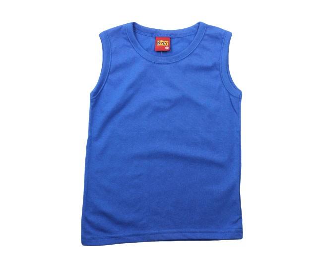 Camiseta Regata Azul Básica Kyly