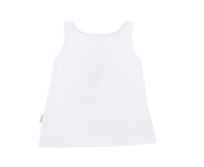 Camiseta Regata Branca Jolie Brandili