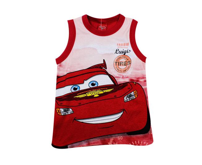 Camiseta Regata Carros LIghtening Mcqueen Malwee