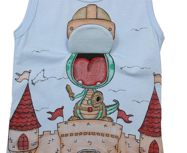Camiseta Regata Dragão interativa Kamylus