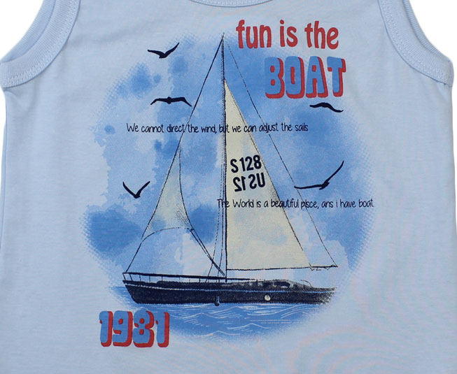 "Camiseta Regata ""Fun is the Boat"" Pulla Bulla"