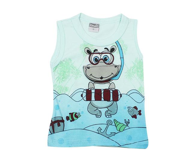 Camiseta Regata Hipopótamo Mergulhador Kamylus