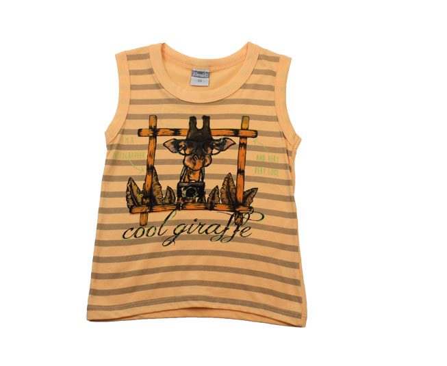Camiseta Regata Listrada de Girafinha  Kamylus