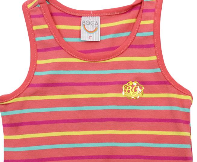 Camiseta Regata Listrada  Boca Grande