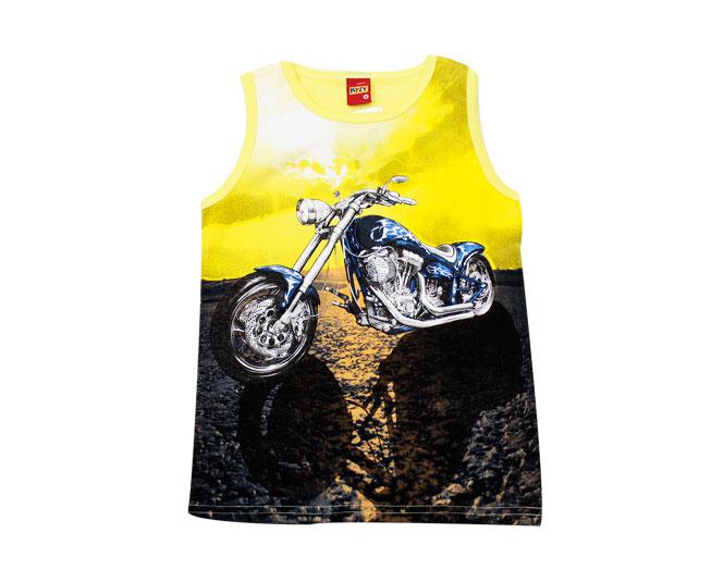 a554dbfa7f ... Camiseta Regata Masculina Amarela Moto Kyly - Criança e Bebê ...