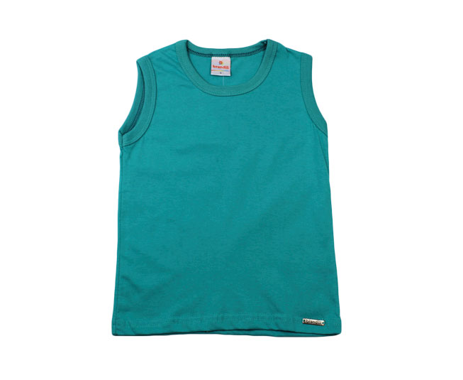 Camiseta Regata Masculina Brandili  Azul Petróleo