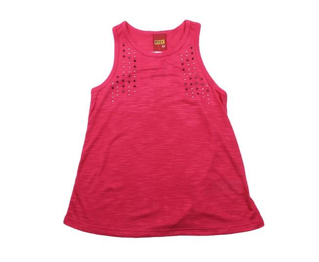 Camiseta Regata Pink com Brilho Kyly
