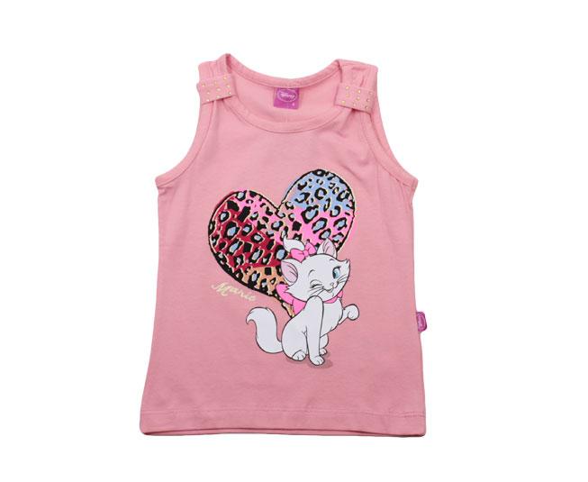 Camiseta Regata Rosa  Marie Disney Brandili