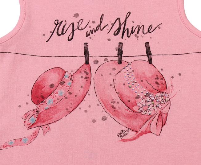 "Camiseta Regata Rosa ""Rise and Shine"" Pulla Bulla"