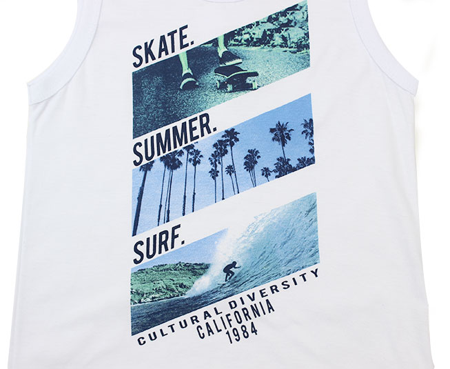 "Camiseta Regata ""skate summer surf"" Pulla Bulla"