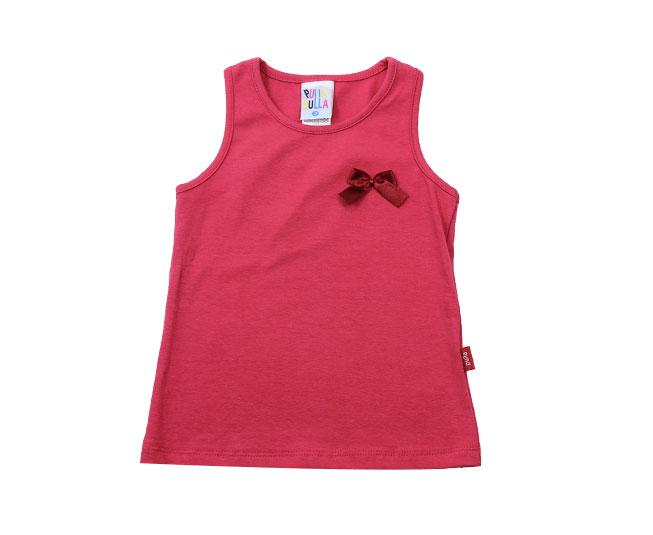Camiseta Regata Vermelha com Lacinho Pulla Bulla