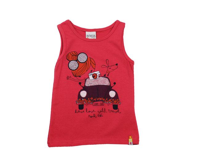 "Camiseta Regata ""Viajante da Rota 66"" Boca Grande"