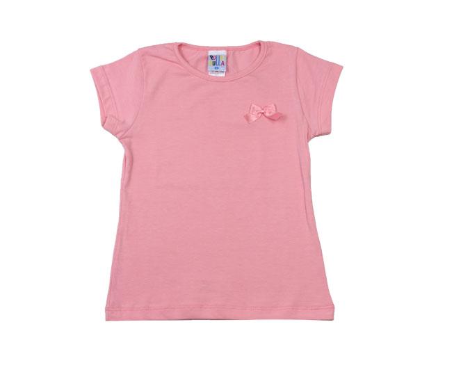 Camiseta Rosa com Lacinho