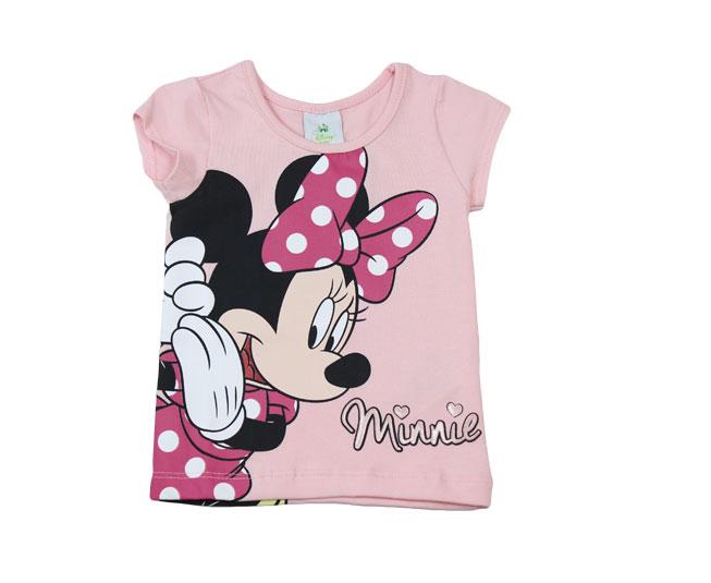 Camiseta Rosa Minnie Disney Baby Brandili