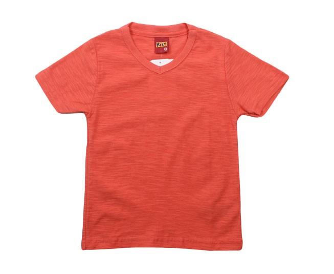 Camiseta Rosa Salmão Gola V Kyly